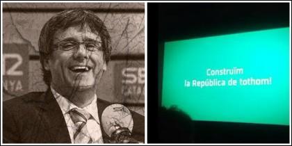 'Cocomocho' Puigdemont y el anuncio de la ANC que se ve en los cines.