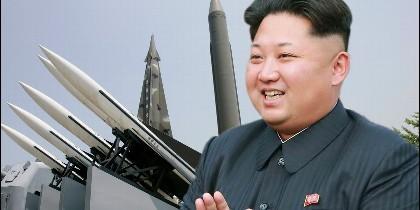 Kim Jong-un y los misiles de Corea del Norte.