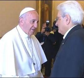 Mattarella, con el Papa