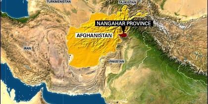 En rojo, la provincia montañosa de Nangahar, en la frontera entre Pakistán y Afganistán, donde EEUU lanzó la 'Madre de Todas las Bombas'.