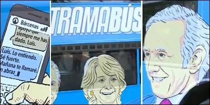 Capturas del Tramabús de Podemos.