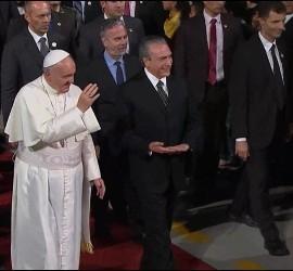 El Papa Francisco, con Michel Temer