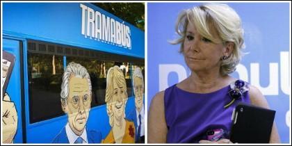 El 'Tramabús' y Esperanza Aguirre.