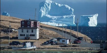 El iceberg que apareció frente a las costas de Canadá.