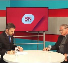 Monseñor Ojea durante la entrevista del programa 'Somos noticia'