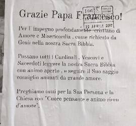 Mensajes de apoyo al Papa en Roma