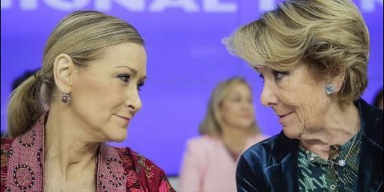 Cristina Cifuentes y Esperanza Aguirre (PP).