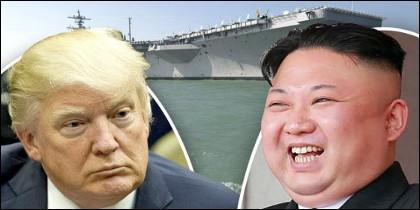 Donal Trump (EEUU) y Kim Jong-un (COREA DEL NORTE).