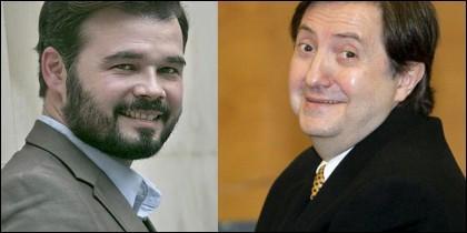 Gabriel Rufián y Jiménez Losantos.