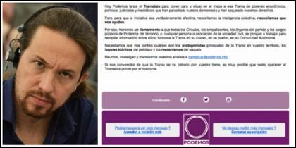 Pablo Iglesias y el correo mandado a afiliados de Podemos.