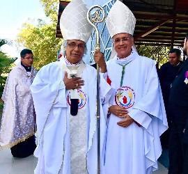 El obispo Báez, con el cardenal Brenes