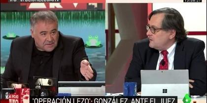 Antonio García Ferreras y Paco Marhuenda en 'Al Rojo Vivo' de la LaSextaTV.