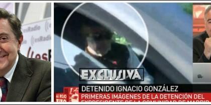 Losantos y la detención de Ignacio González en laSexta.