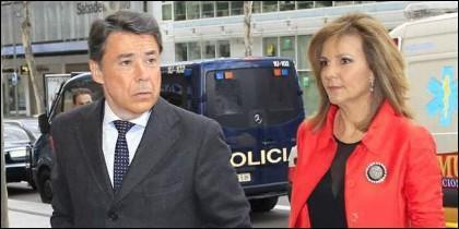 Ignacio González y su esposa Lourdes Cavero.