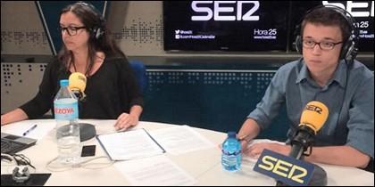 Ángels Barceló con Iñigo Errejón en 'Hora25'