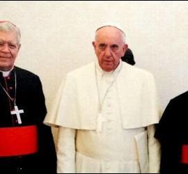 Francisco, con el cardenal Urosa y otros obispos venezolanos