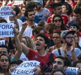 Protestas anti-Temer en Brasil
