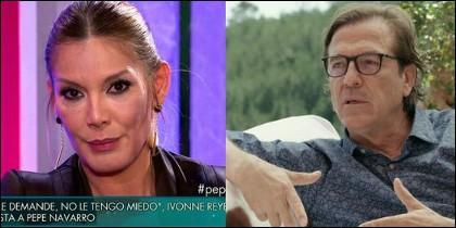 Ivonne Reyes y Pepe Navarro.