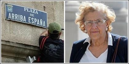 Manuela Carmena y el retiro de una calle 'franquista'.