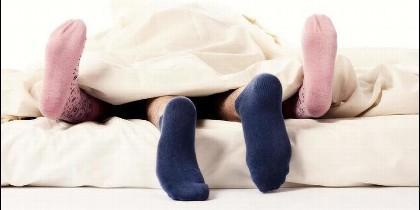 Amor, pareja y sexo con calcetines.