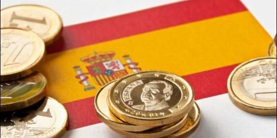 España, PIB, economía y bandera.