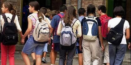 Escuela, estudiantes, ESO y bachillerato.