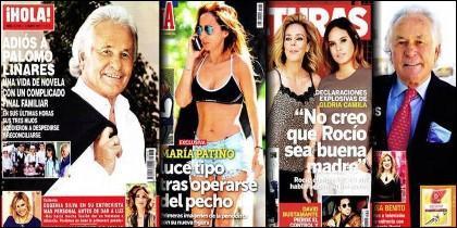 Prensa Rosa: Las portadas de las revistas del corazón.
