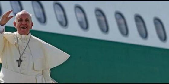 Papa Francisco, en el vuelo papal