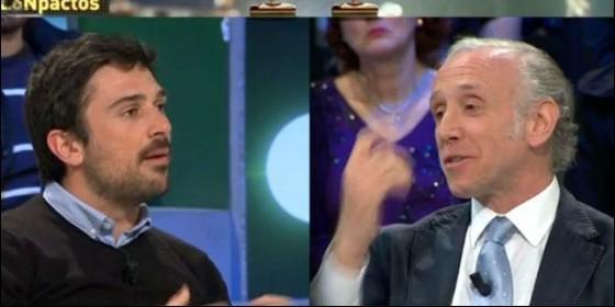 Ramón Espinar (PODEMOS) y Eduardo Inda (LASEXTATV).