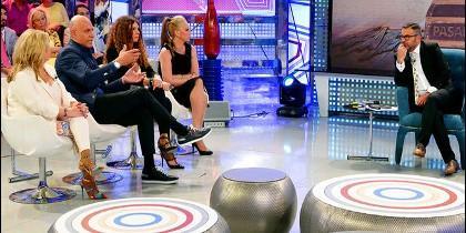 Matamoros, Belén Esteban y Jorge Javier en Sabado Deluxe de Telecinco.
