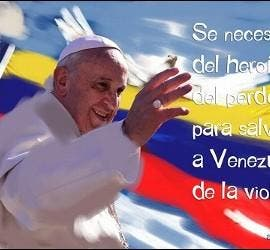 Papa y Venezuela y frase