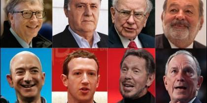Las ocho personas más ricas del mundo son hombres.