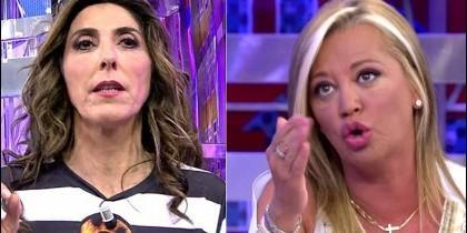 Paz Padilla y Belén Esteban en 'Sálvame' de Telecinco.
