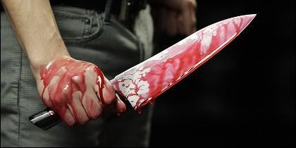 Crimen, asesino, cuchillo, puñal.