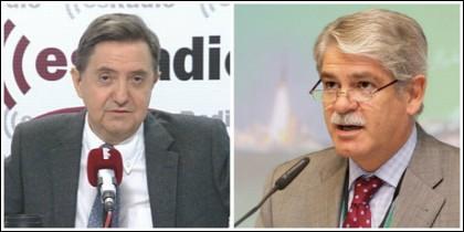 Federico Jiménez Losantos y Alfonso Dastis.