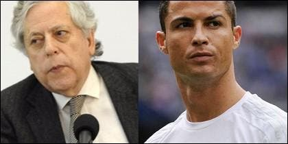 Miguel Ángel Aguilar y Cristiano Ronaldo.