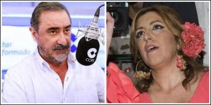 Carlos Herrera y Susana Díaz.