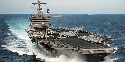 Un portaaviones de la US Navy.