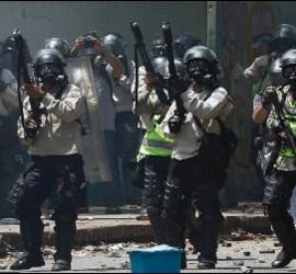 Policías en la Universidad Central de Venezuela, Caracas