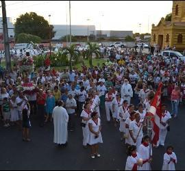 Acto litúrgico en la diócesis de Roraima, Brasil