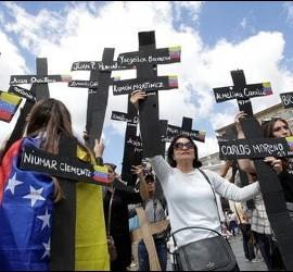 Manifestaciones en Roma de opositores venezolanos