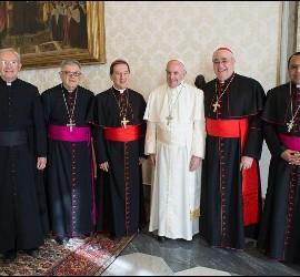 El Papa, con la cúpula del CELAM