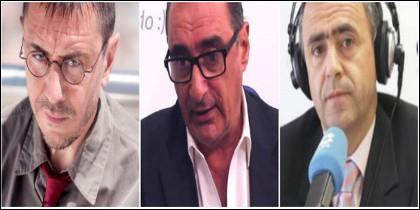 Juan Carlos Monedero, Carlos Herrera y Giménez Barriocanal.