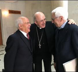 Osoro, con Martín Velasco y Marciano Vidal