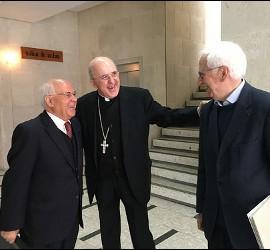 Osoro, con Marciano Vidal y Juan Martín Velasco