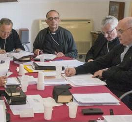 Los obispos catalanes, durante la reunión en Tarragona