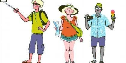 Turista y turismo.