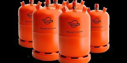 Bombonas de gas butano.