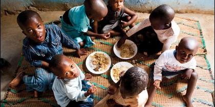 Niños, con hambre
