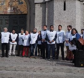 Voluntarios del albergue móvil de Concepción